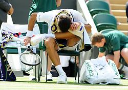 July 11, 2018 - Angleterre - Wimbledon - Novak Djokovic Serbie (Credit Image: © Panoramic via ZUMA Press)