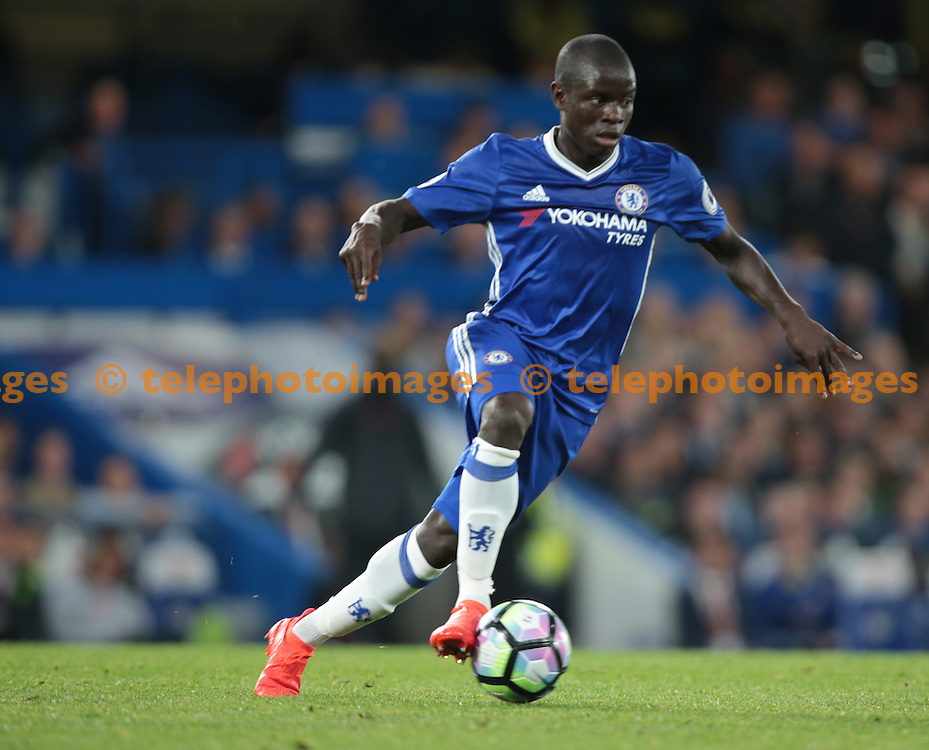 Chelsea's N'Golo Kante in action during todays match  <br /> during the Premier League match between Chelsea and Liverpool at Stamford Bridge in London. September 16, 2016.<br /> James Galvin / Telephoto Images<br /> +44 7967 642437