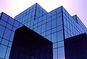 Cube shaped sections of glass office building