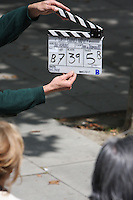 EMMA THOMPSON & DUSTIN HOFFMAN , AN EMOTIONAL TAKE FILMING ROMANTIC FILM LAST CHANCE HARVEY   ON LONDON'S SOUTH BANK
