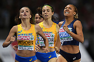 Renelle Lamote competes and wins silver medal in women 800m during the European Championships 2018, at Olympic Stadium in Berlin, Germany, Day 4, on August 10, 2018 - Photo Philippe Millereau / KMSP / ProSportsImages / DPPI