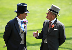Ascot Chairman Johnny Weatherby (left) with Prince Philip during day one of Royal Ascot at Ascot Racecourse.