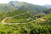 Mountain landscape of Serrania de Ronda, near Cueva de la Pileta, Malaga province, southern Spain
