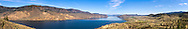 Panorama of Kamloops Lake in the spring near Savona, British Columbia, Canada