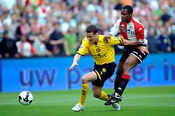 27-04-2008 VOETBAL: KNVB BEKERFINALE FEYENOORD - RODA JC: ROTTERDAM <br /> Feyenoord wint de KNVB beker - Andre Bahia en Andres Oper<br /> ©2008-WWW.FOTOHOOGENDOORN.NL