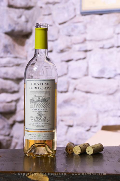 Rose wine 2004. Chateau Pech-Latt. Near Ribaute. Les Corbieres. Languedoc. France. Europe. Bottle.