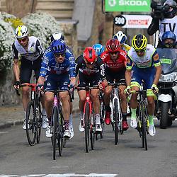 21-04-2021: Wielrennen: Waalse Pijl Elite Men: Huy<br /> Leaders on the Mur de Huy