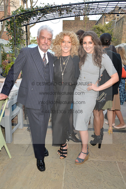PICTURE SHOWS:-Left to right, NICKY HASLAM, KELLY HOPPEN and her daughter NATASHA CORRETT.<br /> Tuesday 14th April 2015 saw a host of London influencers and VIP faces gather together to celebrate the launch of The Ivy Chelsea Garden. Live entertainment was provided by jazz-trio The Blind Tigers, whilst guests enjoyed Moët & Chandon Champagne, alongside a series of delicious canapés created by the restaurant's Executive Chef, Sean Burbidge.<br /> The evening showcased The Ivy Chelsea Garden to two hundred VIPs and Chelsea<br /> residents, inviting guests to preview the restaurant and gardens which marry<br /> approachable sophistication and familiar luxury with an underlying feeling of glamour and theatre. The Ivy Chelsea Garden's interiors have been designed by Martin Brudnizki Design Studio, and cleverly combine vintage with luxury, resulting in a space that is both alluring and down-to-earth.
