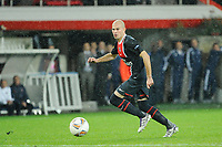 FOOTBALL - UEFA EUROPA LEAGUE 2011/2012 - GROUP STAGE - GROUP F - PARIS SAINT GERMAIN v SLOVAN BRATISLAVA - 03/11/2011 - PHOTO JEAN MARIE HERVIO / DPPI - CHRISTOPHE JALLET (PSG)