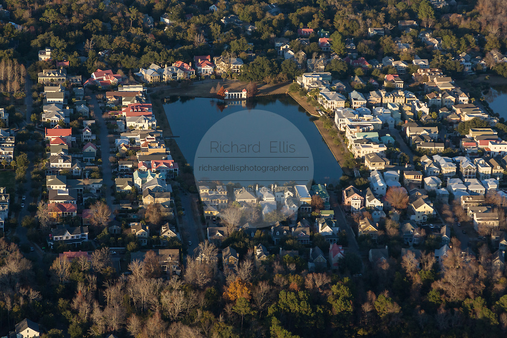 Aerial view of the I'on housing development in Mt Pleasant, SC