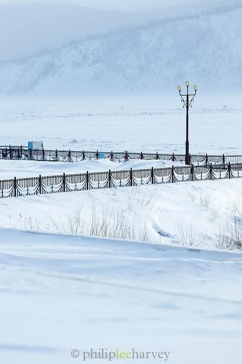 Amur River frontage, Komsomolsk-on-Amur.Siberia, Russia