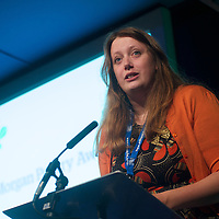 Claire Askew reading at the 2014 Edwin Morgan Poetry Award at the Edinburgh International Book Festival on 16th August 2014 <br /> <br /> Picture by Alan McCredie/Writer Pictures<br /> <br /> WORLD RIGHTS
