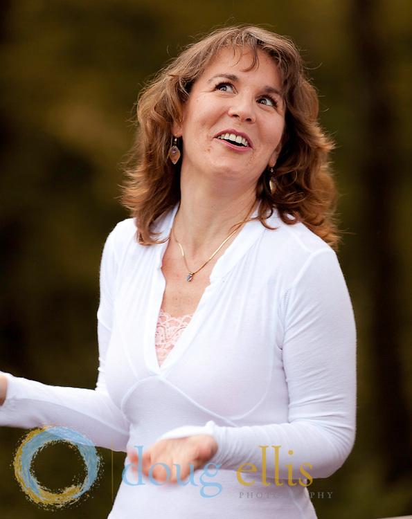 Jeddah Mali Meditation and Spiritual Retreat at Stillheart Institute Dancing in the labyrinth, Lisa Marie Lamb at Stillheart.