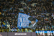 Club Brugge fans during the Europa League match between Club Brugge and Manchester United at Jan Breydel Stadion, Brugge, Belguim on 20 February 2020.