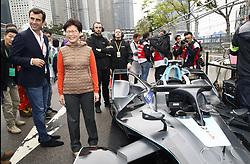 March 10, 2019 - Hong Kong, HONG KONG - Mrs Carrie Lam, Chief Executive of Hong Kong SAR..as she attends the Formula E Hong Kong E-Prix.HONG KONG, CHN, 10. March 2019, Formula E Hong Kong .E-Prix, FIA Formula E, Formula E Grand Prix 2019.  Formel E, Elektro e-prix Autorennen (Credit Image: © David McIntyre/ZUMA Wire)
