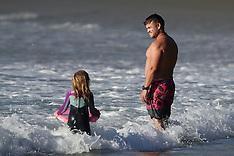 Luke Hemsworth having fun with family - 23 March 2020