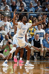 CHAPEL HILL, NC - FEBRUARY 05: Brandon Robinson #4 of the North Carolina Tar Heels defends during a game against the North Carolina State Wolfpack on February 05, 2019 at the Dean Smith Center in Chapel Hill, North Carolina. North Carolina won 113-96. North Carolina wore retro uniforms to honor the 50th anniversary of the 1967-69 team. (Photo by Peyton Williams/UNC/Getty Images) *** Local Caption *** XXXXX