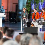NLD/Den Haag/20180323 - Huldiging Olympische en Paralympische medaillewinnaars,  Carlijn Achtereekte, Jeroen Kampscheer, Sven Kramer
