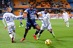 October 1, 2018 - Troyes, France - 13 KEVIN FORTUNE (TRO) - 12 BIRAMA TOURE (AUX) - 10 ROMAIN PHILIPPOTEAUX  (Credit Image: © Panoramic via ZUMA Press)