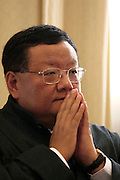 Phoenix TV CEO Liu Changle during an interview in Beijing.