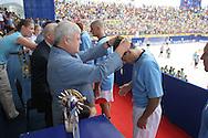 Footbal-FIFA Beach Soccer World Cup 2006 - Final- BRA xURU -awarding of sugundo place of Uruguay  -Rio de Janeiro- Brazil - 12/11/2006.<br />Mandatory Credit: FIFA/Ricardo Ayres