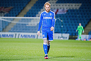 Gillingham FC defender Connor Ogilvie (3) walking back to his half after blazing the ball over the bar during the EFL Sky Bet League 1 match between Gillingham and Crewe Alexandra at the MEMS Priestfield Stadium, Gillingham, England on 26 January 2021.