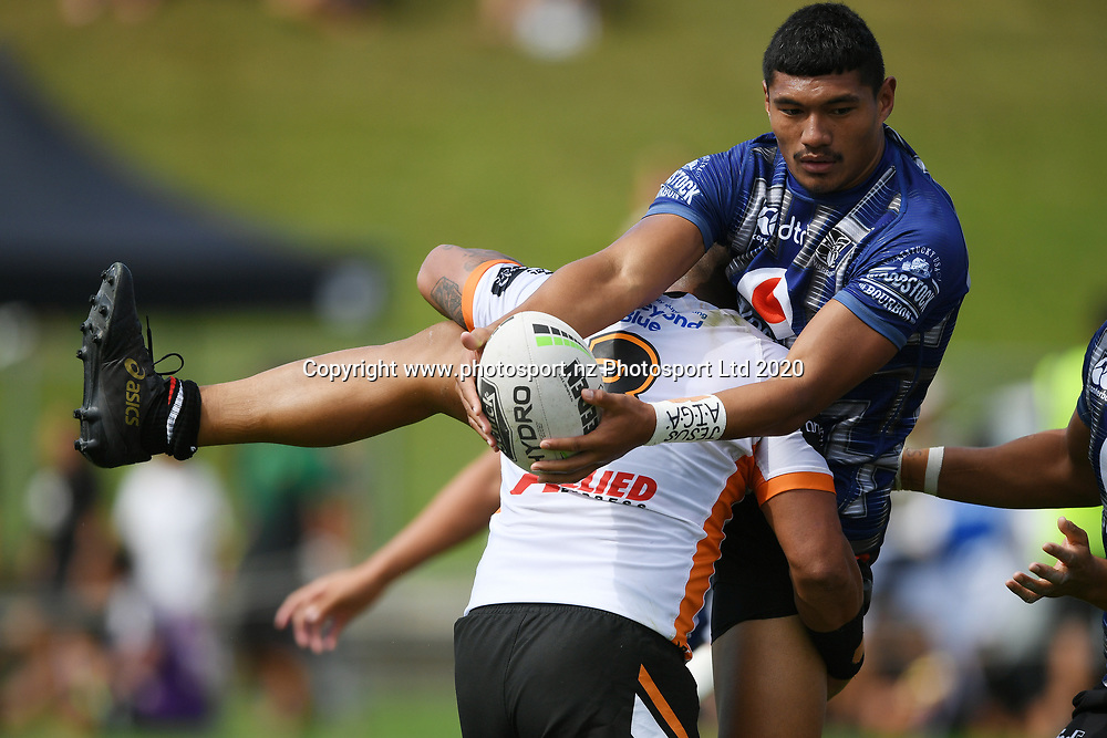 Warriors Edward Kosi looks to get a pass away in the NRL Trial, Vodafone Warriors v Wests Tigers, Rotorua Stadium, Rotorua, Sunday, March 01, 2020. Copyright photo: Kerry Marshall / www.photosport.nz
