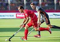 ANTWERPEN - Alvaro Iglesias (Esp)   tijdens halve finale  mannen, Nederland-Spanje (3-4)  ,  bij het Europees kampioenschap hockey.  COPYRIGHT KOEN SUYK