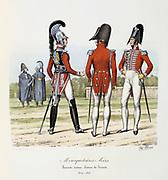 The black Musketeers, 1814-1815. From 'Histoire de la maison militaire du Roi de 1814 a 1830' by Eugene Titeux, Paris, 1890.