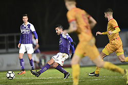 January 10, 2018 - Tubize, BELGIUM - Beerschot's Hernan Losada pictured in action during a soccer game between AFC Tubize and Beerschot-Wilrijk, in Tubize, Wednesday 10 January 2018, on day 19 of the division 1B Proximus League competition of the Belgian soccer championship. The game was postponed because of bad weather conditions on December 10th. BELGA PHOTO JOHN THYS (Credit Image: © John Thys/Belga via ZUMA Press)