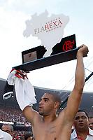 20091206: RIO DE JANEIRO, BRAZIL - Flamengo vs Gremio: Brazilian League 2009 - Flamengo won 2-1 and celebrated the 6th Brazilian Championship of its history. In picture: Adriano (Flamengo) celebrating victory. PHOTO: CITYFILES