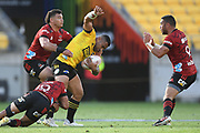 in the Super Rugby match, Hurricanes v Crusaders, Sky Stadium, Wellington, Sunday, April 11, 2021. Copyright photo: Kerry Marshall / www.photosport.nz