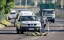 South Africa - Durban - 03 June 2020 - Police help divert cars after an unknown man was killed in an accident by KZN metro bus. He was crossing Umgeni road in Durban early on Wednesday morning the 03 June 2020. Picture: Bongani Mbatha/African News Agency(ANA)