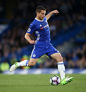Chelsea's Cesar Azpilicueta in action during the Premier League match at Stamford Bridge Stadium, London. Picture date: April 25th, 2017. Pic credit should read: David Klein/Sportimage