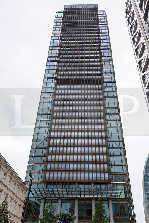 © Licensed to London News Pictures. 31/08/2021. London, UK. The new luxury PAN PACIFIC HOTEL in the heart of the city of London opens on 1st September 2021. Part of the  Singapore PAN PACIFIC Hotels group, this is their first European hotel. The hotel is based at One Bishopsgate Plaza and features 237 guest rooms including 42 suites and a signature Pan Pacific Suite; All-day dining Straits Kitchen restaurant; A dedicated well being floor with an 18.5 metre infinity pool and a destination  cocktail bar in Devonshire House designed by Tom Dixon. Photo credit: Ray Tang/LNP