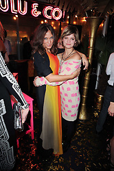 Left to right, LULU KENNEDY and PIXIE GELDOF at a party to celebrate the launch of Lulu & Co held at the Fifth Floor Cafe, Harvey Nichols, Knightsbridge, London on 21st October 2010.