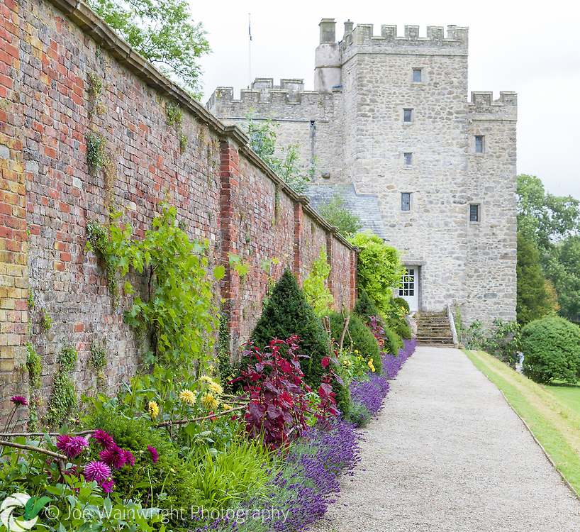 The Hot Wall Border at Sizergh Castle, Cumbria - photographed in August
