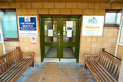 © Licensed to London News Pictures. 11/02/2020. Bicester, UK.  General view of a closed family visitors centre at HMP Bullingdon in Oxfordshire. Two male inmates are reportedly being tested for COVID-19 (Coronavirus). Access to the prison is being restricted.  Photo credit: Cliff Hide/LNP
