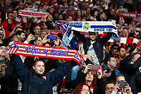 Atletico de Madrid's supporters and Real Madrid CF's kid supporter during La Liga match. November 18,2017. (ALTERPHOTOS/Acero)