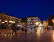 The town square of Nafplion<br /><br />Photo by Dennis Brack