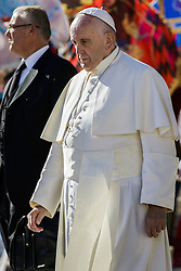November 12, 2016 - Vatican City, Vatican - Pope Francis leaves at the end of an extraordinary Jubilee Audience as part of ongoing celebrations of the Holy Year of Mercy in St. Peter's Square in Vatican City, Vatican on November 12, 2016. Pope Francis presided over the last special audience for the Jubilee of Mercy this morning, during which he called on Christians to witness to Gods mercy by being inclusive. (Credit Image: © Giuseppe Ciccia/NurPhoto via ZUMA Press)