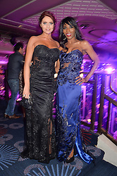 Left to right, AMY CHILDS and SINITTA at the Caudwell Children's annual Butterfly Ball held at The Grosvenor House Hotel, Park Lane, London on 15th May 2014.