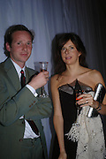 Gawain Rainey and Sophie Hunter. Selfridges Las Vegas dinner hosted by  hon Galen , Hillary Weston and Allanah Weston. Selfridges Oxford St. 20 April 2005. ONE TIME USE ONLY - DO NOT ARCHIVE  © Copyright Photograph by Dafydd Jones 66 Stockwell Park Rd. London SW9 0DA Tel 020 7733 0108 www.dafjones.com