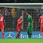 Turkey's Emre BELOZOGLU (C) during their UEFA EURO 2012 Play-off for Final Tournament First leg soccer match Turkey betwen Croatia at TT Arena in Istanbul Nüovember11, 2011. Photo by TURKPIX