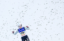 11.01.2014, Kulm, Bad Mitterndorf, AUT, FIS Ski Flug Weltcup, Bewerb, im Bild Simon Ammann (SUI) // Simon Ammann (SUI) during the FIS Ski Flying World Cup at the Kulm, Bad Mitterndorf, Austria on <br /> 2014/01/11, EXPA Pictures © 2014, PhotoCredit: EXPA/ JFK