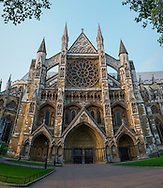 An early morning view of Westminster Abbey in London, England on May 24, 2012.
