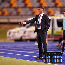 BRISBANE, AUSTRALIA - JANUARY 23: Brisbane Roar coach John Aloisi gives instructions during the AFC Champions League Second Preliminary Round match between Brisbane Roar and Ceres Negros FC on January 23, 2017 in Brisbane, Australia. (Photo by Patrick Kearney)