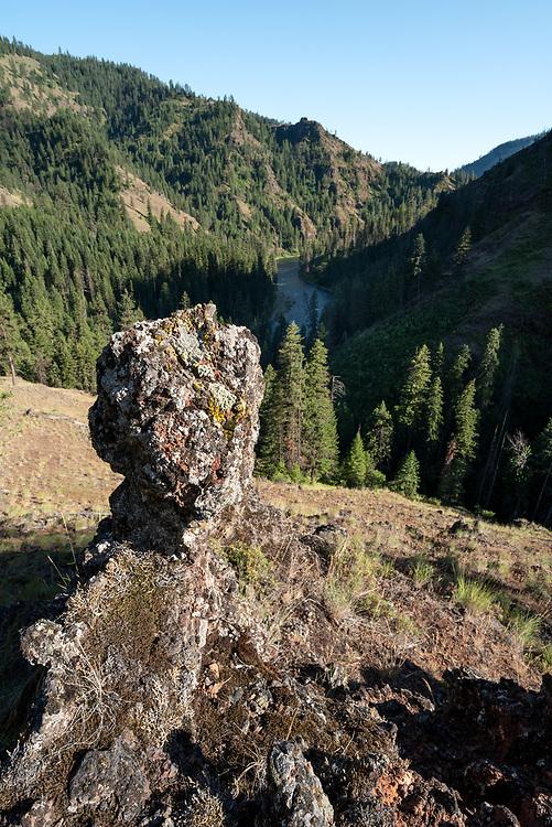 Rock formation aboe the Grande Ronde River in Northeast Oregon.