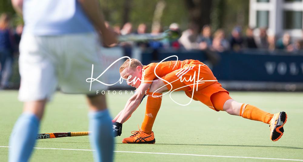 AMSTELVEEN - JIBBE STAPS. Oefenwedstrijd tussen het Nederlands Team Jongens B tegen Bloemendaal A1. COPYRIGHT KOEN SUYK