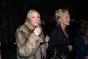ALICE DAWSON; AMANDA ELIASCH, Stephen Webster: 7 Deadly Sins And No Regrets - launch party, Old Vic Tunnels (formerly Leake Street Tunnel), Waterloo, London SE1, 8 December 2010. DO NOT ARCHIVE-© Copyright Photograph by Dafydd Jones. 248 Clapham Rd. London SW9 0PZ. Tel 0207 820 0771. www.dafjones.com.